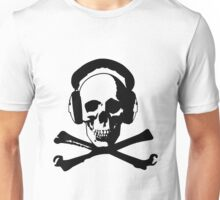 Skull & Headphones Unisex T-Shirt