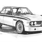 BMW E9 3.0 CSL (Batmobile 1973) by Steve Pearcy