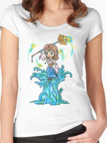 Dancing on Water Women's Fitted Scoop T-Shirt
