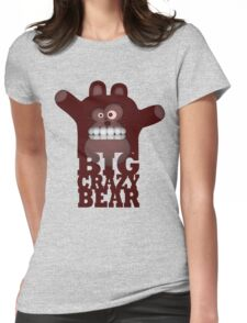 BIG CRAZY BEAR Womens Fitted T-Shirt