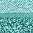 Glitzy Teal Zebra Pattern by runninragged