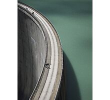 People on the Mooserboden dam Photographic Print