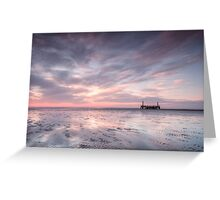 Ribble Remnants Sunset Greeting Card