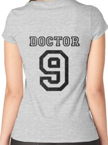 DOCTOR WHO 9th Women's Fitted Scoop T-Shirt