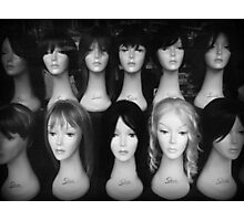 Heads and Wigs Photographic Print