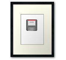old school floppy disk retro 80s tee   Framed Print