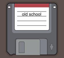 old school floppy disk retro 80s tee   by Tia Knight