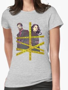 Crime Scene Womens Fitted T-Shirt