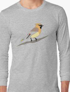 Cedar Waxwing Bird Long Sleeve T-Shirt
