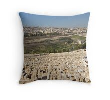 Mount of Olives,Jerusalem Throw Pillow