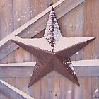 Winter Barn Star by Lisa Gilliam Photography