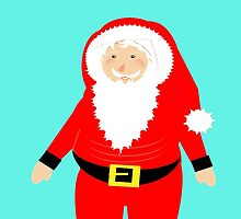 Jolly Santa Claus Happy Festive Christmas Theme by Artification
