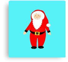 Jolly Santa Claus Happy Festive Christmas Theme Canvas Print
