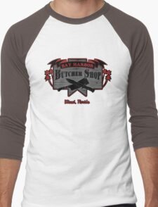 Bay Harbor Butcher Shop- Dexter Men's Baseball ¾ T-Shirt