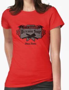 Bay Harbor Butcher Shop- Dexter Womens Fitted T-Shirt