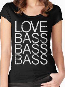 Love Bass Bass Bass Women's Fitted Scoop T-Shirt