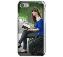on a park bench iPhone Case/Skin