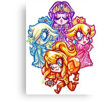 Chibi Nintendo Girls Canvas Print