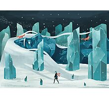 The wanderer and the ice forest Photographic Print