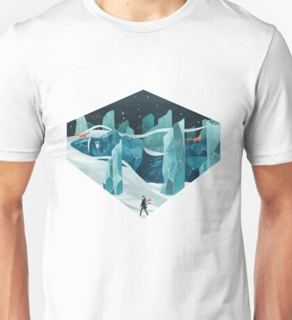 The wanderer and the ice forest Unisex T-Shirt