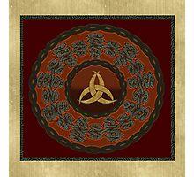 Tribal Celt Triquetra Symbol Photographic Print