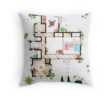 "Kusakabe Residence from ""Tonari no Totoro"" film Throw Pillow"