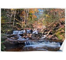 Delaware Falls on a Bright October Day Poster