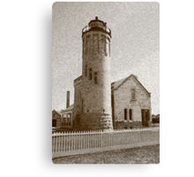 Lighthouse with Sponge Painting Effect Canvas Print