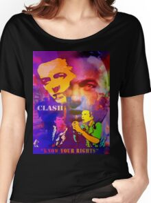 CLASH KNOW YOUR RIGHTS Women's Relaxed Fit T-Shirt