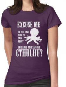Our Lord And Saviour Cthulhu Womens Fitted T-Shirt