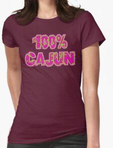 "Cajun ""100% Cajun"" Womens Fitted T-Shirt"