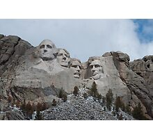 Mount Rushmore Landscape Photographic Print