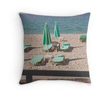 solitary beach- samos, greece Throw Pillow