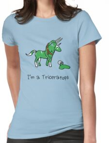 I'm A Triceratops (Unicorn + Narwhals) Womens Fitted T-Shirt
