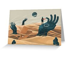The wanderer and the desert portals Greeting Card