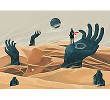 The wanderer and the desert portals Photographic Print