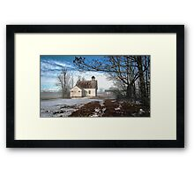 --Maple Ridge Schoolhouse Framed Print
