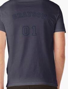 Grayson Up To Bat Mens V-Neck T-Shirt