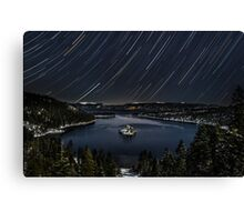 Emerald Bay Star Trails Canvas Print