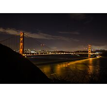 Golden Gate Starlight Photographic Print
