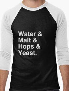 Water & Malt & Hops & Yeast T-Shirt Men's Baseball ¾ T-Shirt