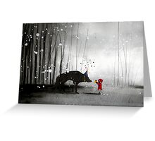 little red riding hood ~ happy birthday to you  Greeting Card