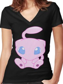 Baby MEW without text Women's Fitted V-Neck T-Shirt