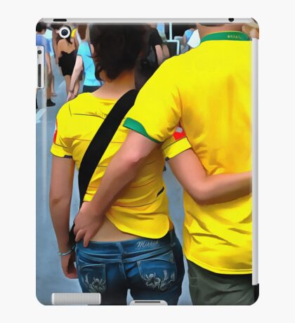 Love In Brazilian Yellow | Brazil Couple iPad Case/Skin