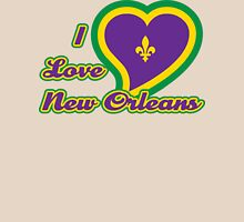 I Love New Orleans Womens Fitted T-Shirt