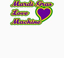 "Mardi Gras ""Love Machine"" Womens Fitted T-Shirt"
