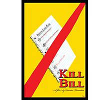 Original Kill Bill minimalist movie poster Photographic Print