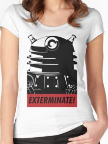 EXTERMINATE!!! Women's Fitted Scoop T-Shirt
