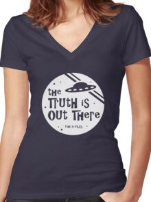 The Truth Is Out There Women's Fitted V-Neck T-Shirt