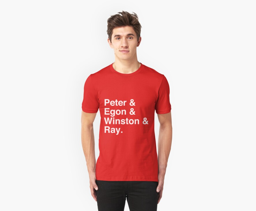 Peter & Egon & Winston & Ray T-Shirt by tcn33